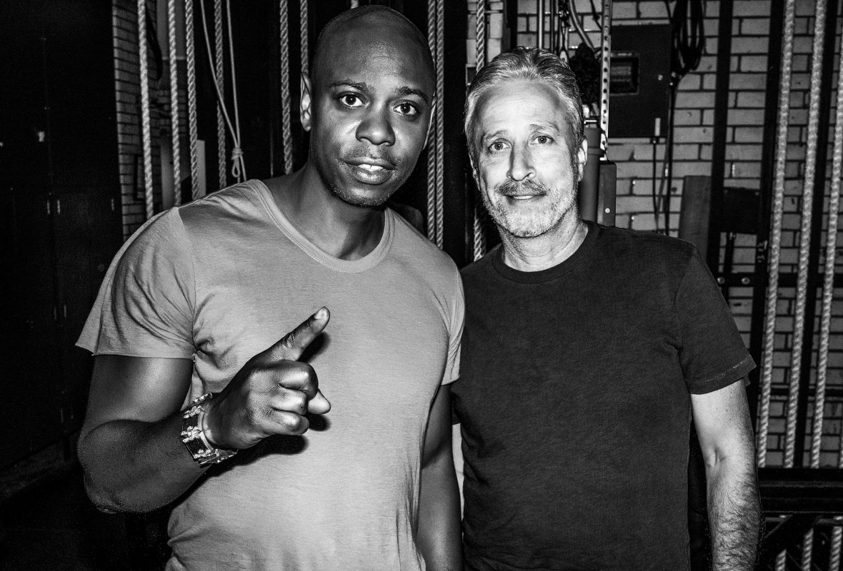 Dave Chappelle and Jon Stewart